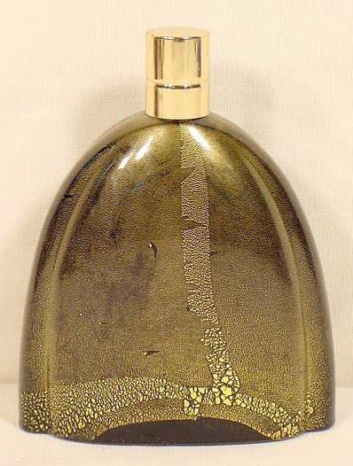 2: French Black Glass Perfume Bottle NR