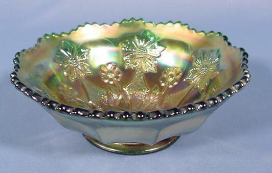 "12: Fenton Carnival Glass ""Little Flowers"" NR"