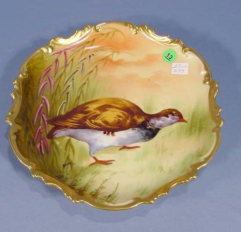 13: Coronet Game Bird Plate Signed NR