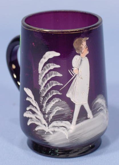 22: Mary Gregory Amethyst Childs Cup NR