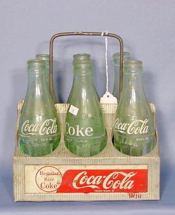 505: Aluminum Coca Cola 6 Bottle Carrier NR