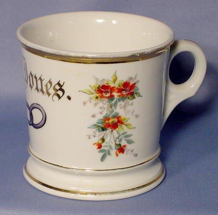 510: I.O.O.F. Shaving Mug with Flowers NR