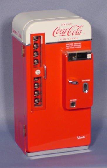 512: Coca Cola  Pop Bottle Dispenser Musical Bank