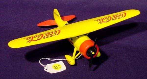 517: Toy Coca Cola Airplane Bank NR