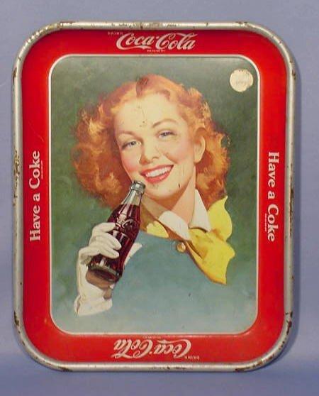 518: 1943 Coca Cola Serving Tray NR