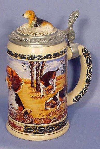 522: Budweiser Beagle Commemorative Stein NR
