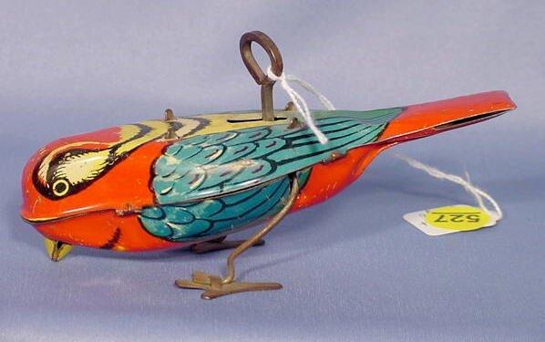 527: Lindstrom Tin Litho Key Wind Bird NR