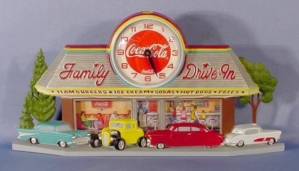 938: Coca Cola Family Drive In Clock NR