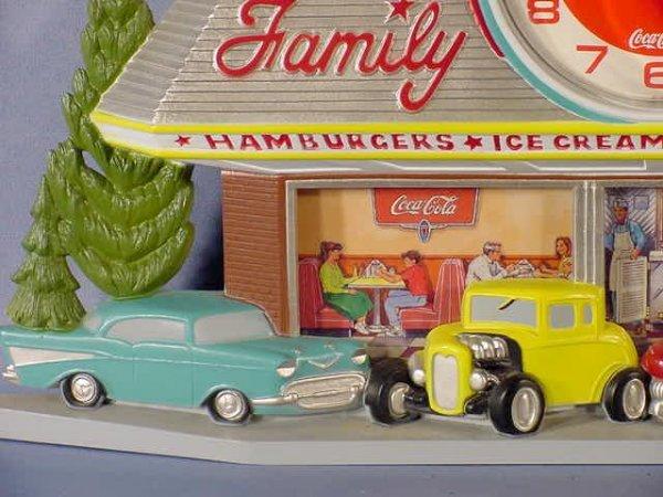 938: Coca Cola Family Drive In Clock NR - 2