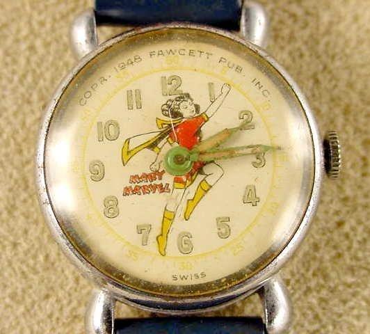 2007: 1948 Fawcett Mary Marvel Wrist Watch NR