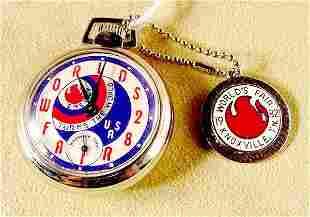 1982 Westclox World's Fair Comm. Pocket Watch NR