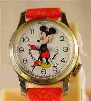 Bradley Bobbing Head Mickey Mouse Wrist Watch NR