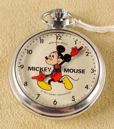 2017: 1973 Mickey Mouse Pocket Watch Great Britain NR