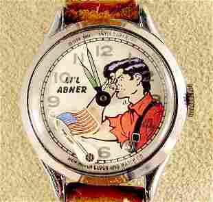 1951 New Haven Li'l Abner Wrist Watch NR