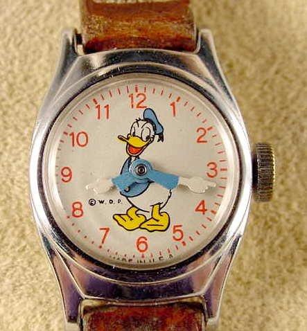 2027: 1955 Timex Donald Duck Child's Watch NR