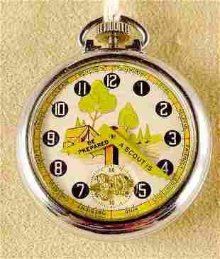1922 Ingersoll Boy Scout Pocket Watch NR
