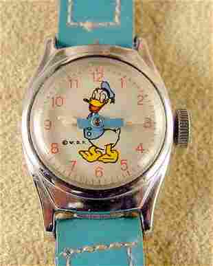 1955 U.S. Time Donald Duck Wrist Watch NR