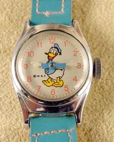 2037: 1955 U.S. Time Donald Duck Wrist Watch NR
