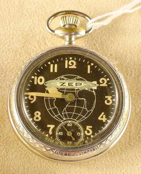 2039: 1929 Graf Zeppelin Pocket Watch Trail Blazers NR
