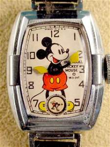 2075: 1938/39 Ingersoll Mickey Mouse Wrist Watch Deluxe