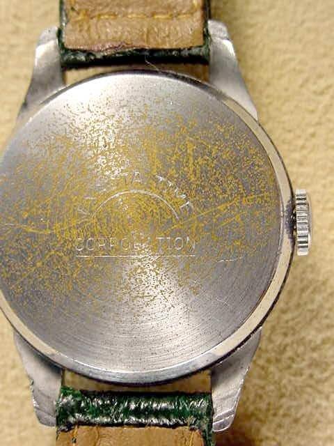 2087: 1949 Exacta Babe Ruth Wrist Watch & Baseball Case - 2