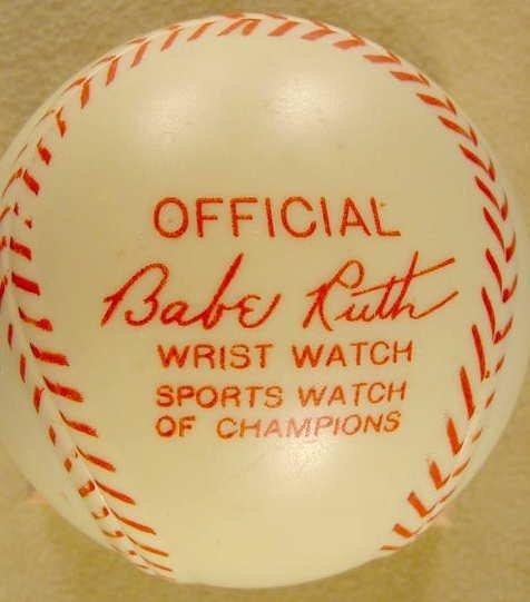 2087: 1949 Exacta Babe Ruth Wrist Watch & Baseball Case - 5