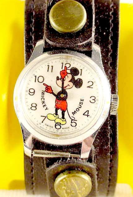 2225: 1973 Bradley Mickey Mouse Wrist Watch #6801 NR