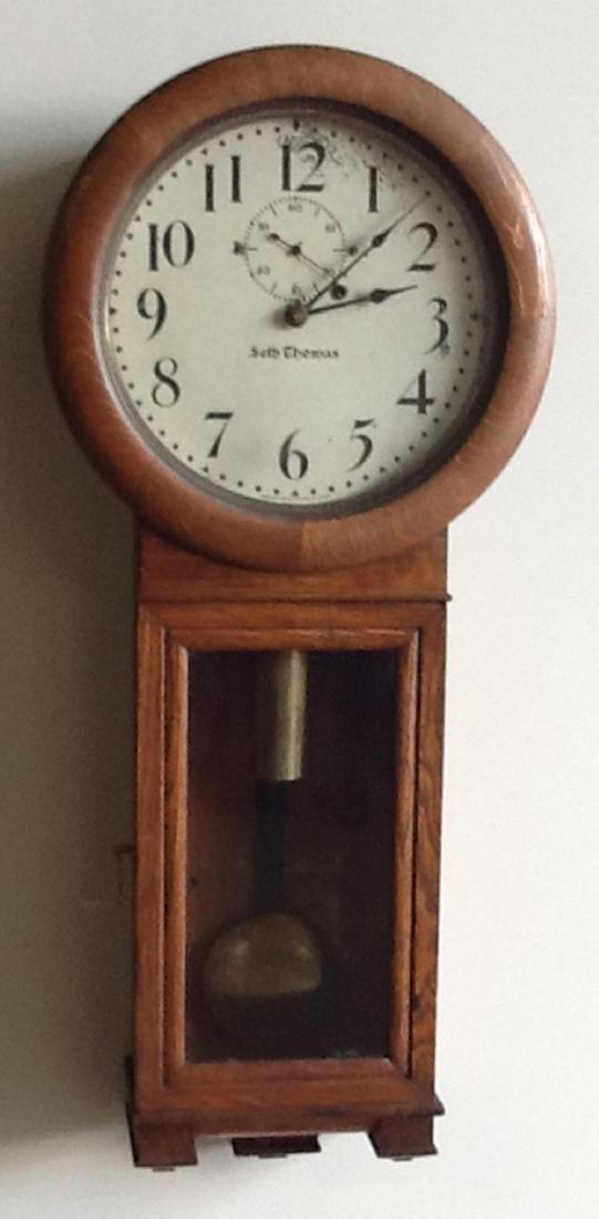 Seth Thomas No. 2 Oak Regulator Wall Clock: TO with a