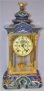 Ansonia Porcelain Crystal Regulator No. 8 Shelf Clock: