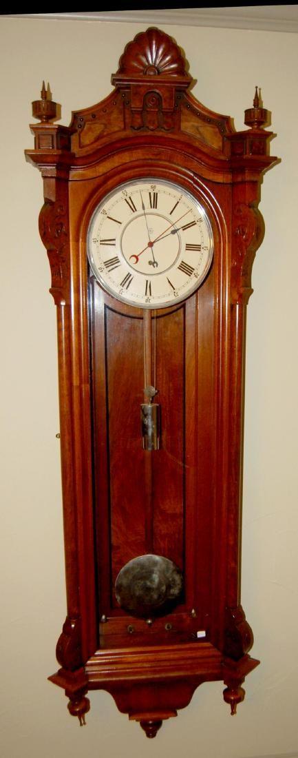 Seth Thomas No. 16 Regulator Wall Clock in a Walnut