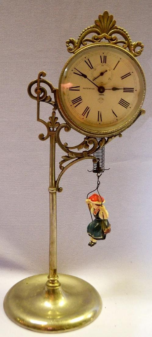 Ansonia Jumper No. 1 Bobbing Doll Clock: With a set