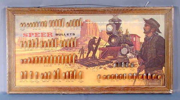1113: Speer Bullet Board with 81 Slugs Displayed NR
