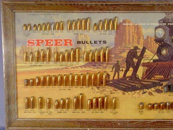 1113: Speer Bullet Board with 81 Slugs Displayed NR - 2