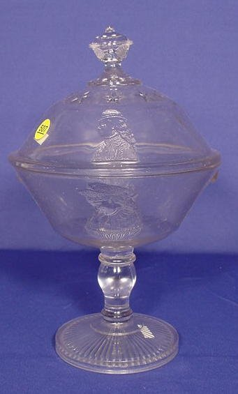 "507: Glass Lidded Compote ""Actress"" NR"