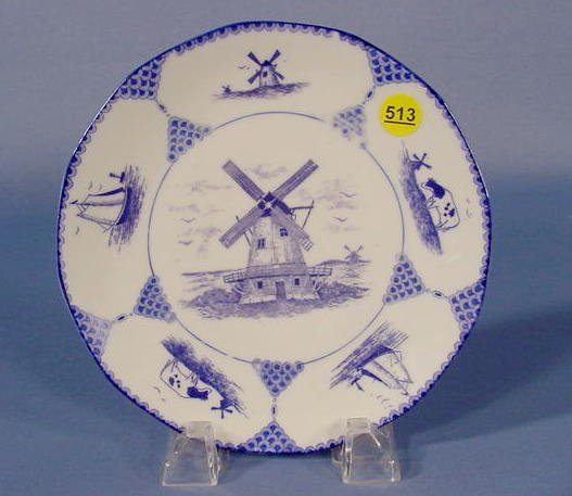 513: Delft Style Dutch Scenic Decorated Plate NR