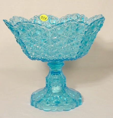 "514: Sapphire Blue ""Daisy & Button"" EAPG Compote NR"