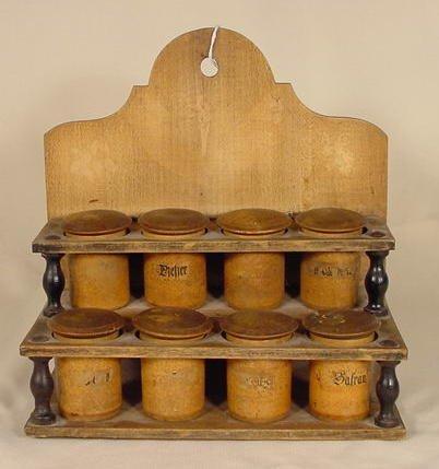 13: Primitive Wooden Spice Rack  NR