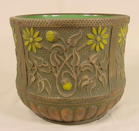 18: Red Wing Art Pottery Vine & Floral Jardinière NR
