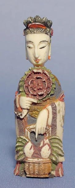 8A: Figural Carved Empress Snuff Bottle NR