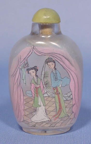 17A: Chinese Interior Painted Snuff Bottle NR
