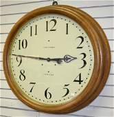 "Antique Seth Thomas 24"" Oak Gallery Clock"