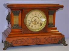 Antique Seth Thomas Red Adamantine Mantel Clock