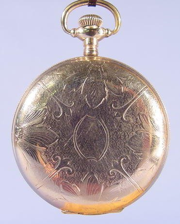 9: Elgin Engraved Hunting Case Pocket Watch NR