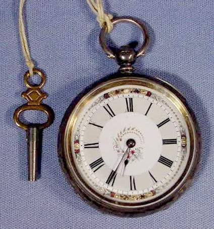 13: Mathey English Sterling Case Pocket Watch NR