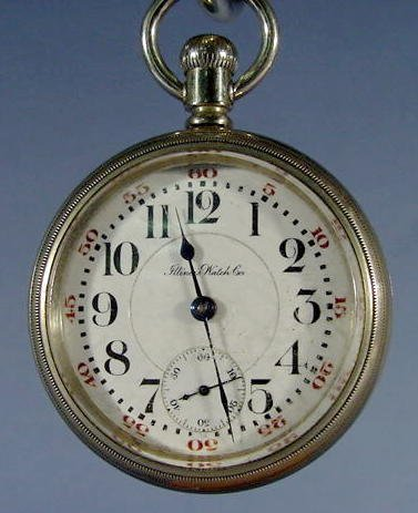 17: Illinois 17 Jewel 18S Pocket Watch NR