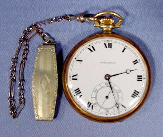 19: Hamilton 910 Open Face Pocket Watch NR