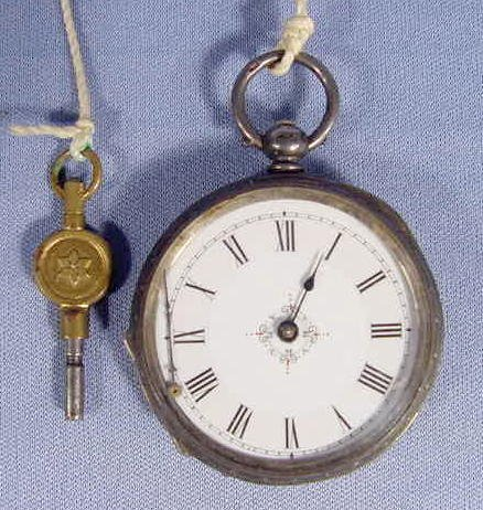21: English Sterling Case KW/KS Pocket Watch NR