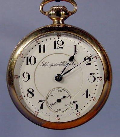 """159: Hampden 21J """"The Dueber Watch Co."""" Pocket Watch"""