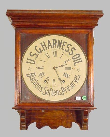 508: Seth Thomas USG Harness Oil Advertising Clock NR
