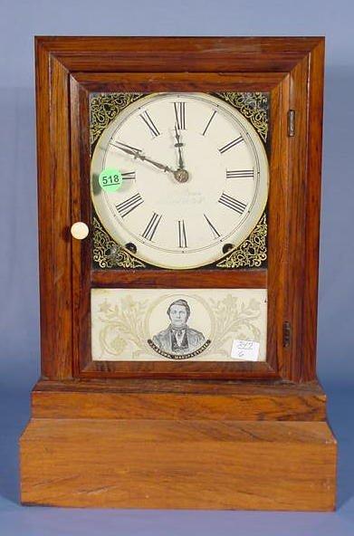 518: J.C. Brown Rosewood Cottage Clock NR